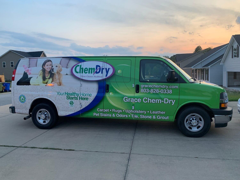 grace chem-dry carpet cleaning van