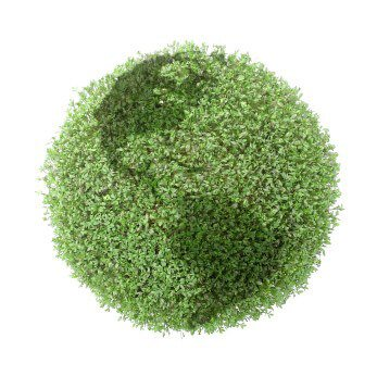 green earth made of plants